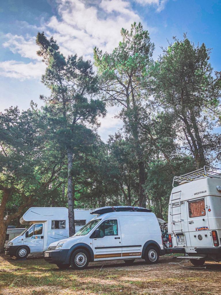Frankreich Surfen Moliets et maa camping