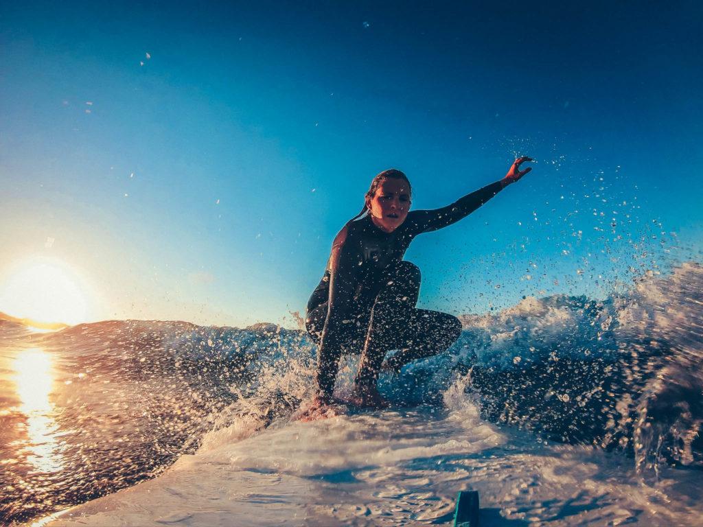 Roadtrip Frankreich Surfen Hendaye Longboard Wellen
